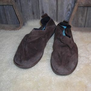 Thierry Rabotin brown suede slip ons loafers 9